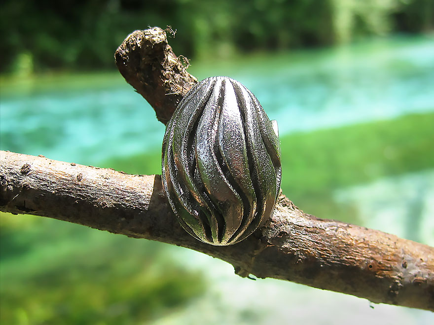 nature jewelry wave ring riverside